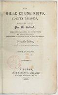 Les mille et une nuits, contes arabes, traduits en français par M. Galland. Nouvelle édition, corrigée et ornée de 36 jolies figures  1832