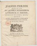 Illustration de la page Johannes Pierson (1731-1759) provenant de Wikipedia