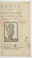 Illustration de la page Solange (sainte, ....-0878?) provenant de Wikipedia