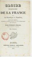 Bildung aus Gallica über Pierre Colau (1763-183.)