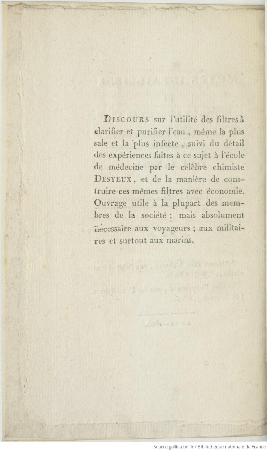 Ouvrages anciens : Les Breuvages .. F10