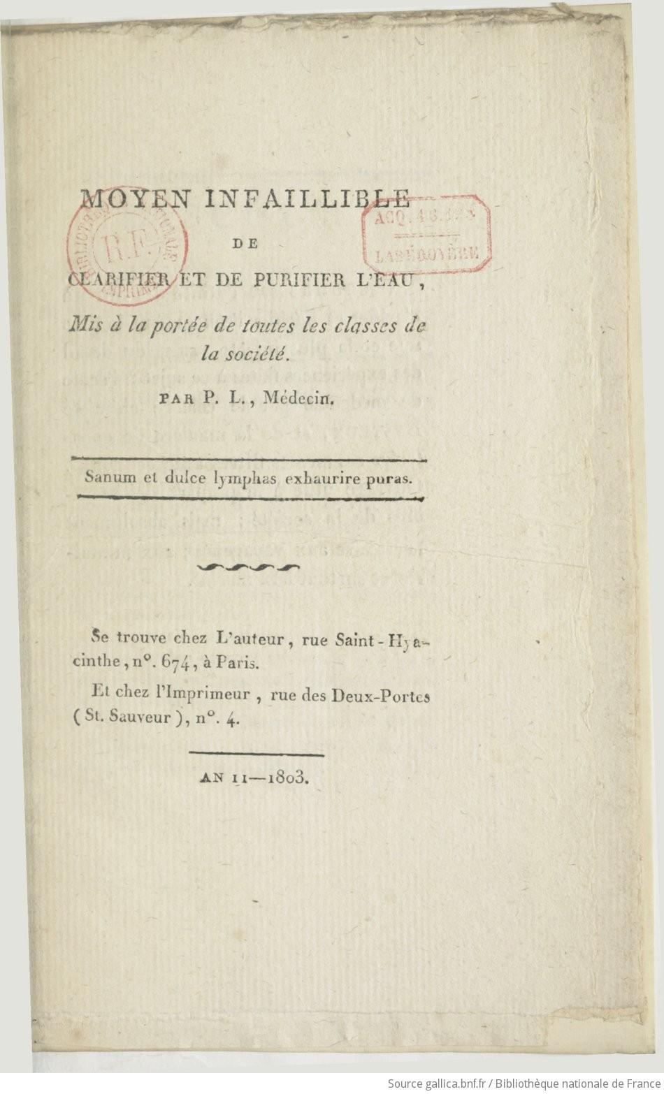 Ouvrages anciens : Les Breuvages .. F9