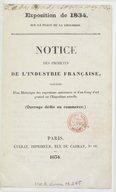 Illustration de la page Exposition publique des produits de l'industrie française (08 ; 1834 ; Paris) provenant de Wikipedia