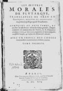 Illustration de la page Oeuvres morales provenant de Wikipedia