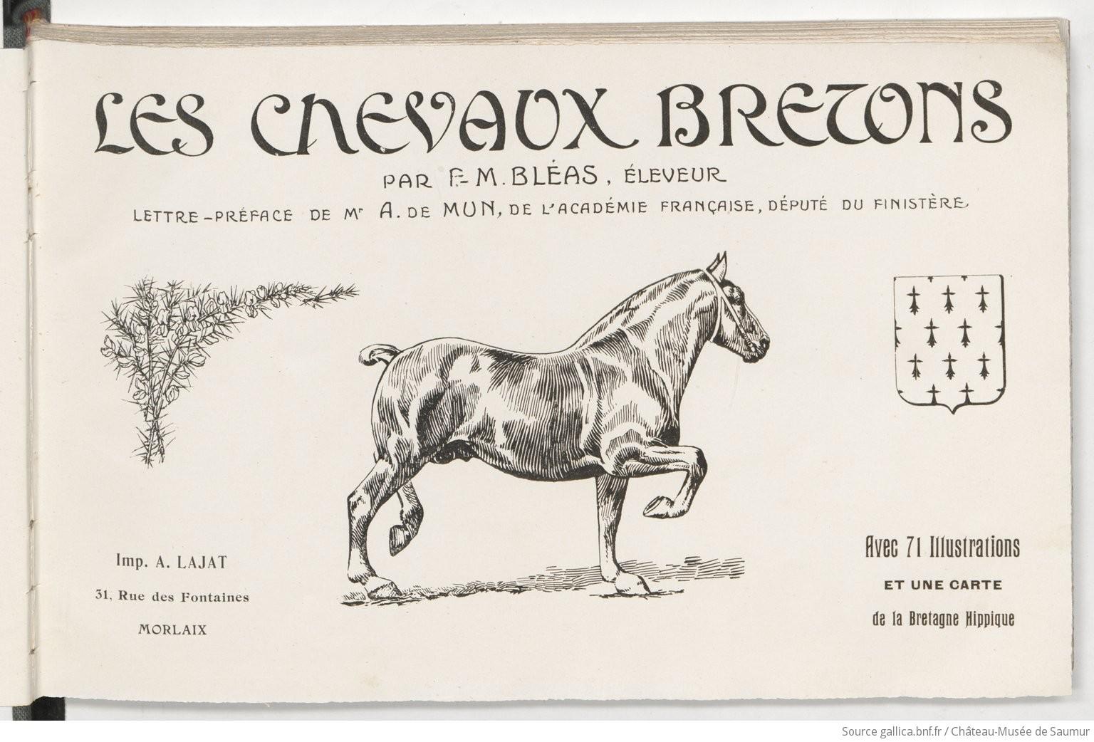 Les chevaux bretons / par F.-M. Bléas |