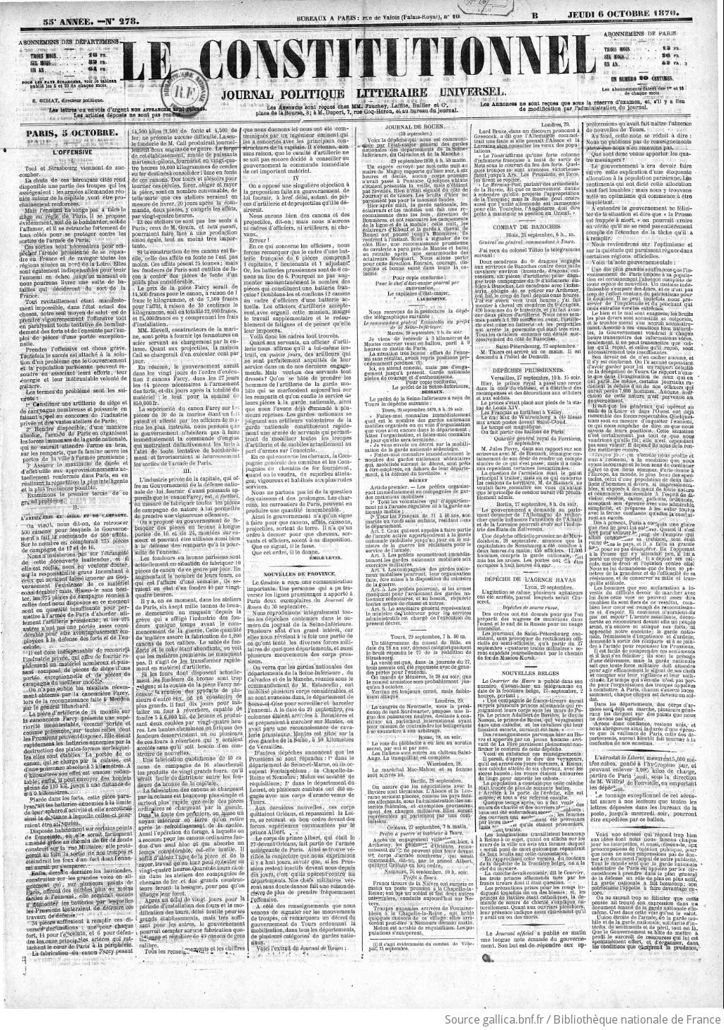 Politique Littéraire Et Commerce Du Le Constitutionnel Journal IqwZZS