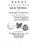 Bildung aus Gallica über Alexandre Deleyre (1726-1796)
