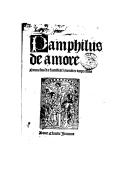Illustration de la page Pamphilus, de amore provenant de Wikipedia