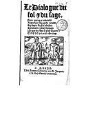 Bildung aus Gallica über Simon Calvarin (15..-1593)
