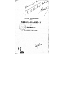 Abdul-Hamid II et Mourad V, masque de fer : pages d'histoire  A. Fua. 1901