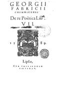 Illustration de la page Georg Fabricius (1516-1571) provenant de Wikipedia