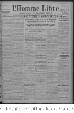 L'Homme libre (Paris. 1913)