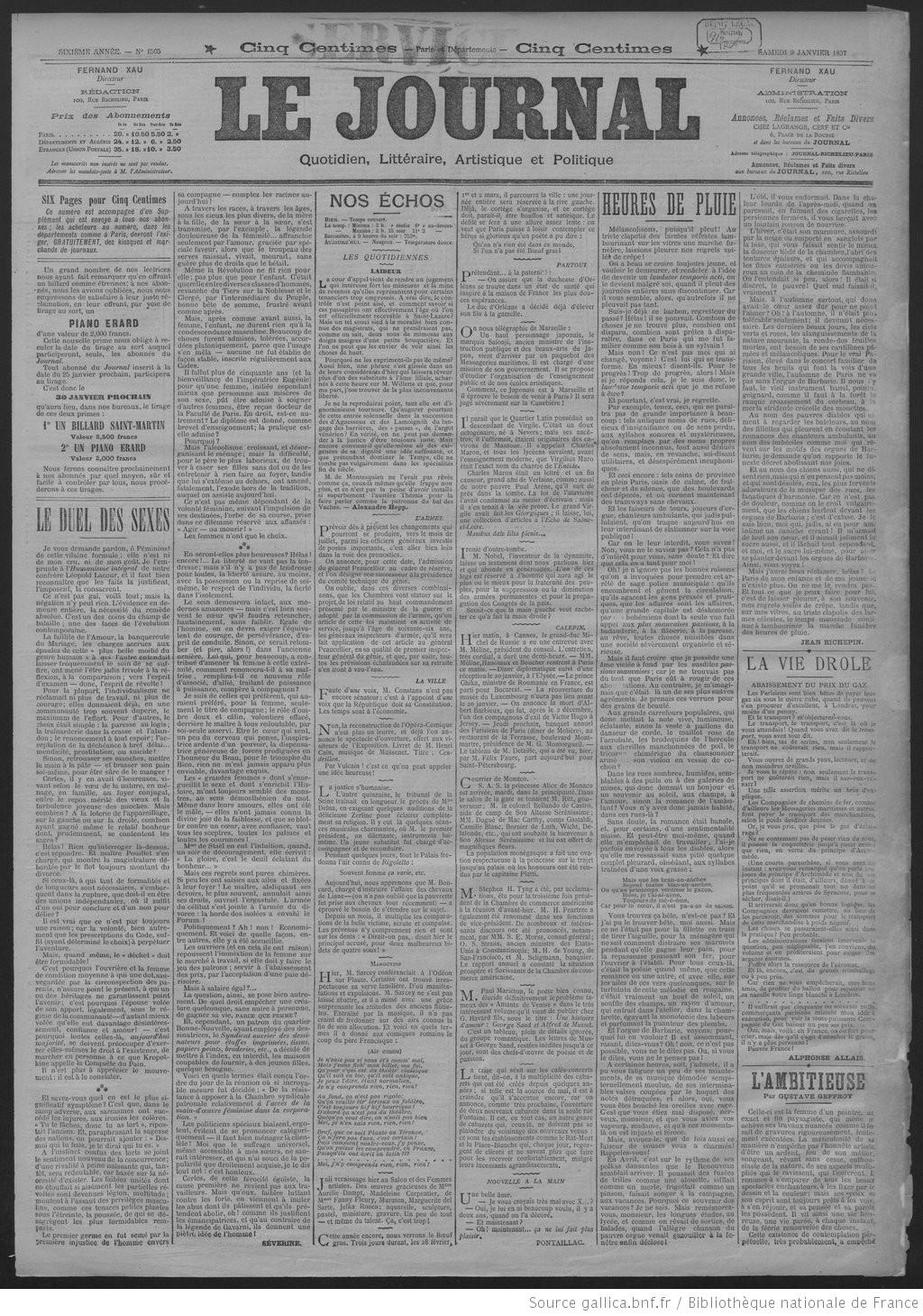 Le Journal   1897-01-09   Gallica 4cb9ec384776