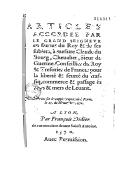 Articles accordez par le Grand Seigneur [Selim] en faveur du Roy & de ses subjets, à messire Claude du Bourg... pour la liberté & seurté du traffiq, commerce & passage des pays & mers de Levant. 1570