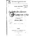 Bildung aus Gallica über Die Klassengegensätze von 1789