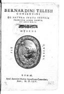 Image from Gallica about Bernardino Telesio (1509-1588)