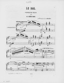 Image from Gallica about Le bal. Piano