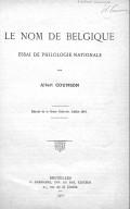 Bildung aus Gallica über Albert Counson (1880-1933)