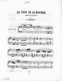 Image from Gallica about La fête de la rosière. Piano