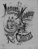Illustration de la page Le menuet de la marquise. Piano provenant de Wikipedia