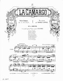 Illustration de la page La Camargo. No 4. Air de Mandrin : Transcription. Piano provenant de Wikipedia