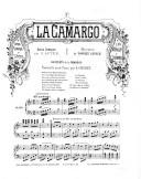 Illustration de la page Arrangements. Piano. La Camargo. Lecocq, Charles provenant de Wikipedia