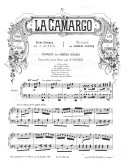 Illustration de la page La Camargo. No 6. Couplets des gentils soldats : Transcription. Piano provenant de Wikipedia
