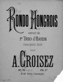 Image from Gallica about Arrangements. Rondo hongrois. Piano. Trio no 1 Hob. XV, 5. Haydn, Joseph