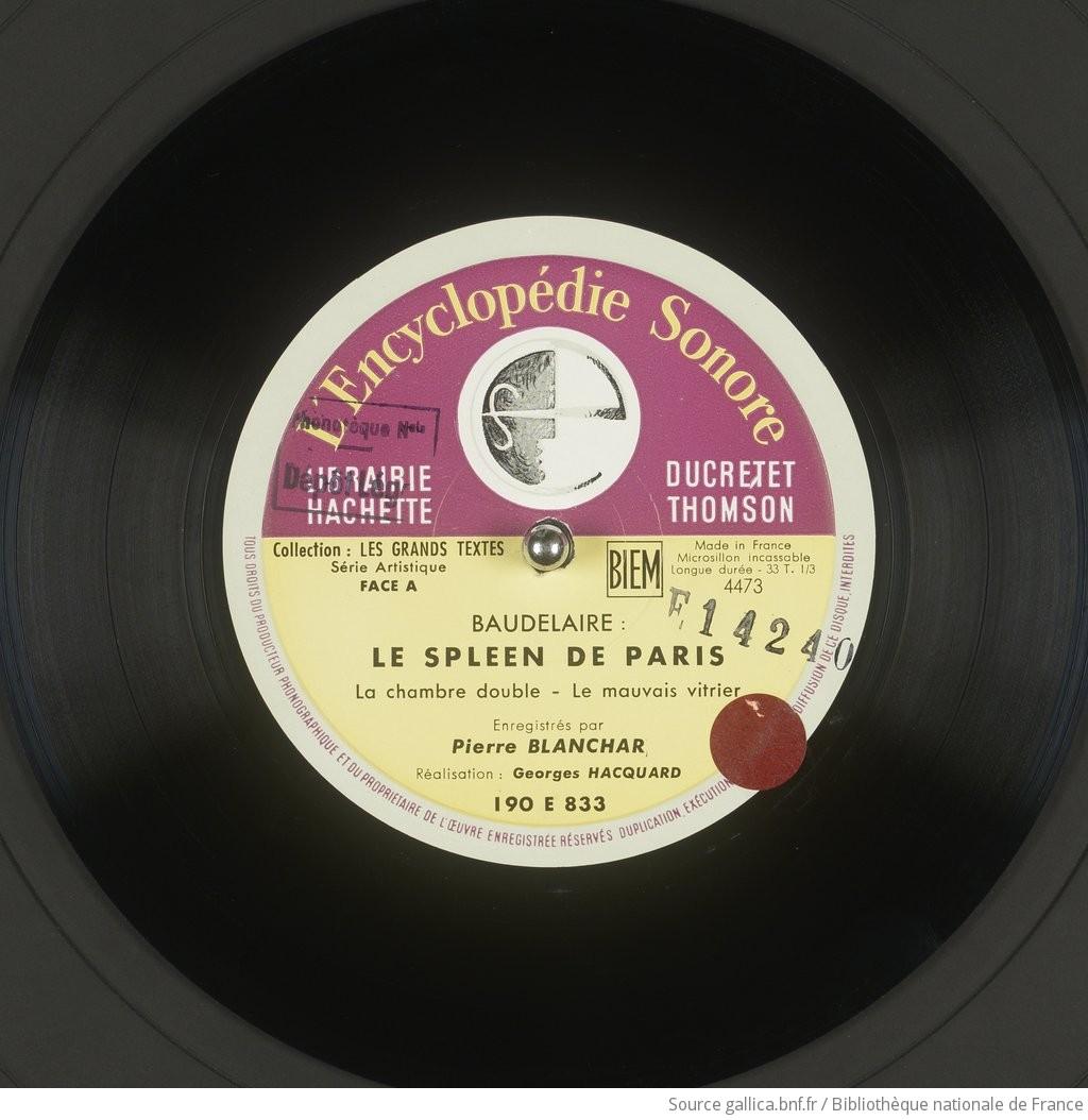 LE SPLEEN DE PARIS / BAUDELAIRE ; BLANCHARS (Georges) | Gallica