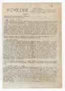 Wyzwolenie : Pismo Ruchu Patriotycznego Polskich Mas Pracują̡cych na Emigracji. 1944-1945