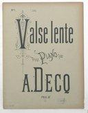 Illustration de la page Valse lente. Piano. Op. 295 provenant de Wikipedia