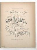 "Illustration de la page Variations sur l'air de ""La mère Michel"". Piano provenant de Wikipedia"