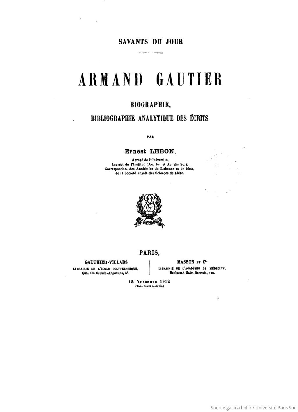 Savants du jour : biographie, bibliographie analytique des écrits. 6