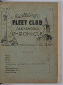 Claridge's Fleet Club Alexandria Chronicle  The Rev. C. Paton, R. N. 1935-1936
