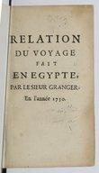 Relation du voyage fait en Egypte par le Sieur Granger1745