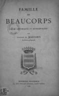 Bildung aus Gallica über Charles de Beaucorps (1879-1926)