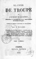 Les Enfants de troupe, ou Aventures de Catherine, orpheline et cantinière de la 43e demi-brigade de l'armée d'Égypte. T. 1  1843