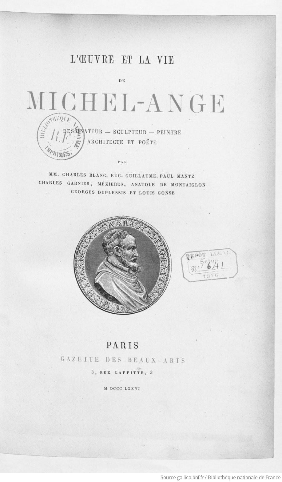 Sculpteur Peintre Et Poete Francais l'oeuvre et la vie de michel ange dessinateur, sculpteur