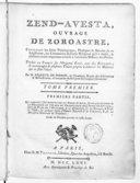 Illustration de la page Avesta provenant de Wikipedia