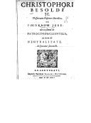 Illustration de la page Christoph Besold (1577-1638) provenant de Wikipedia
