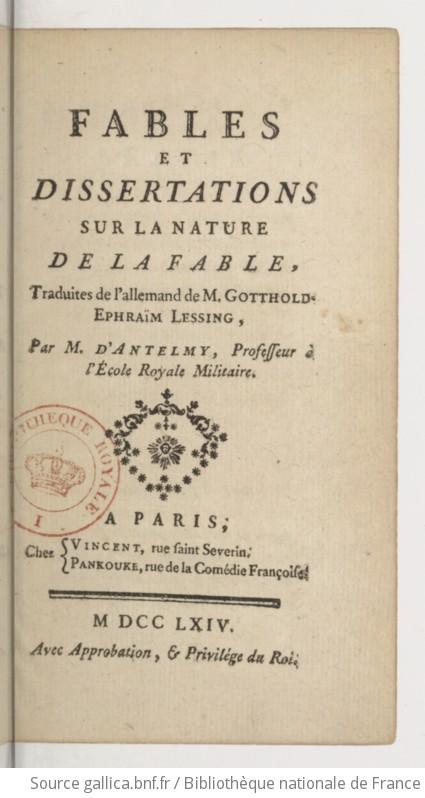 Dissertation sur la fable corrig