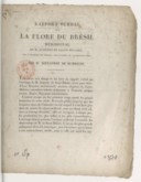 Rapport verbal sur la flore du Brésil méridional de M. Auguste de Saint-Hilaire, fait à l'Académie des sciences, dans sa séance du 19 septembre 1825  A. de Humboldt