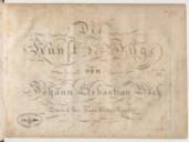 Image from Gallica about Die Kunst der Fuge. BWV 1080