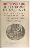 Image from Gallica about Dictionnaire historique et critique