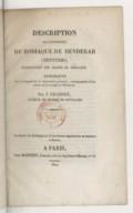 Denderah  Description de l'appartement du zodiaque de Denderah (Tentyris) : explication des signes du zodiaque  J.-C. Chabert. 1822