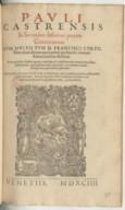 Image from Gallica about Paulus de Castro (1360?-1441)