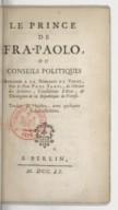 Illustration de la page Opinione come debba governarsi internamente ed esternamente la Repubblica di Venezia provenant de Wikipedia