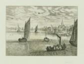 Illustration de la page Bord de mer avec des bateaux et un village à droite provenant de Wikipedia