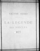 Image from Gallica about La légende des siècles