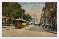 Alexandrie. Rue Tewfick I et la Bourse